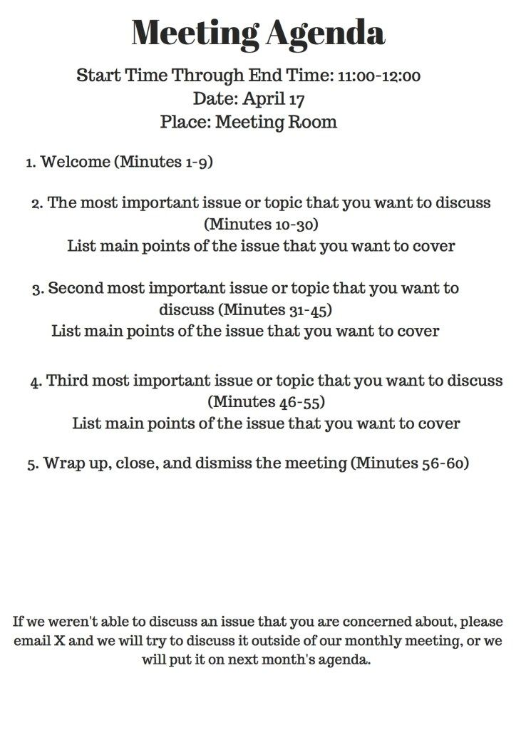 Why Your Nonprofit Needs Meeting Agendas Meeting Agenda Meeting