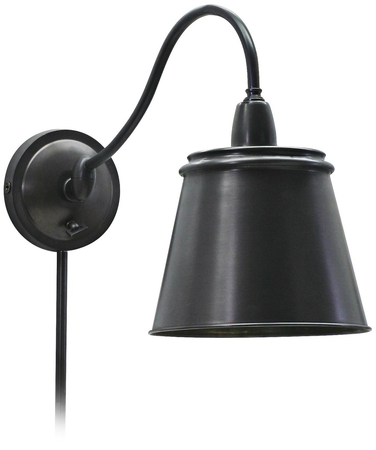 Oiled Bronze Plug-In Wall Light