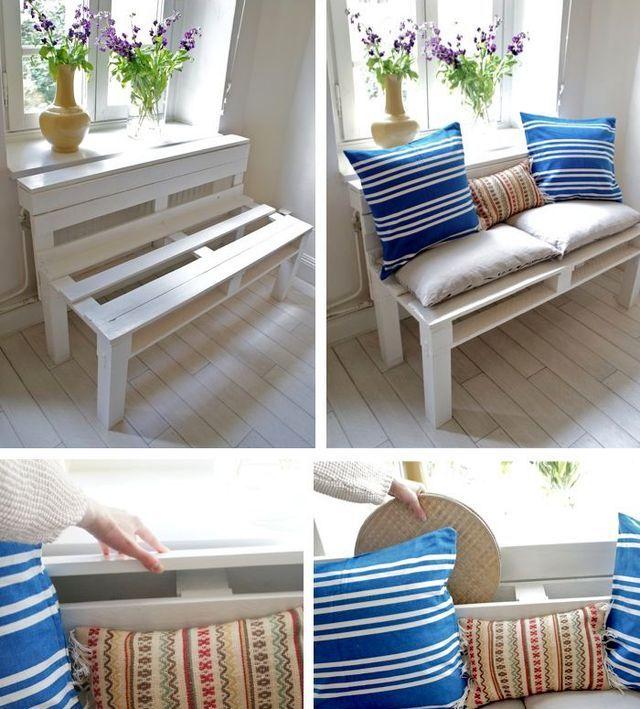 скамейка - софа своими руками из деревянного поддона