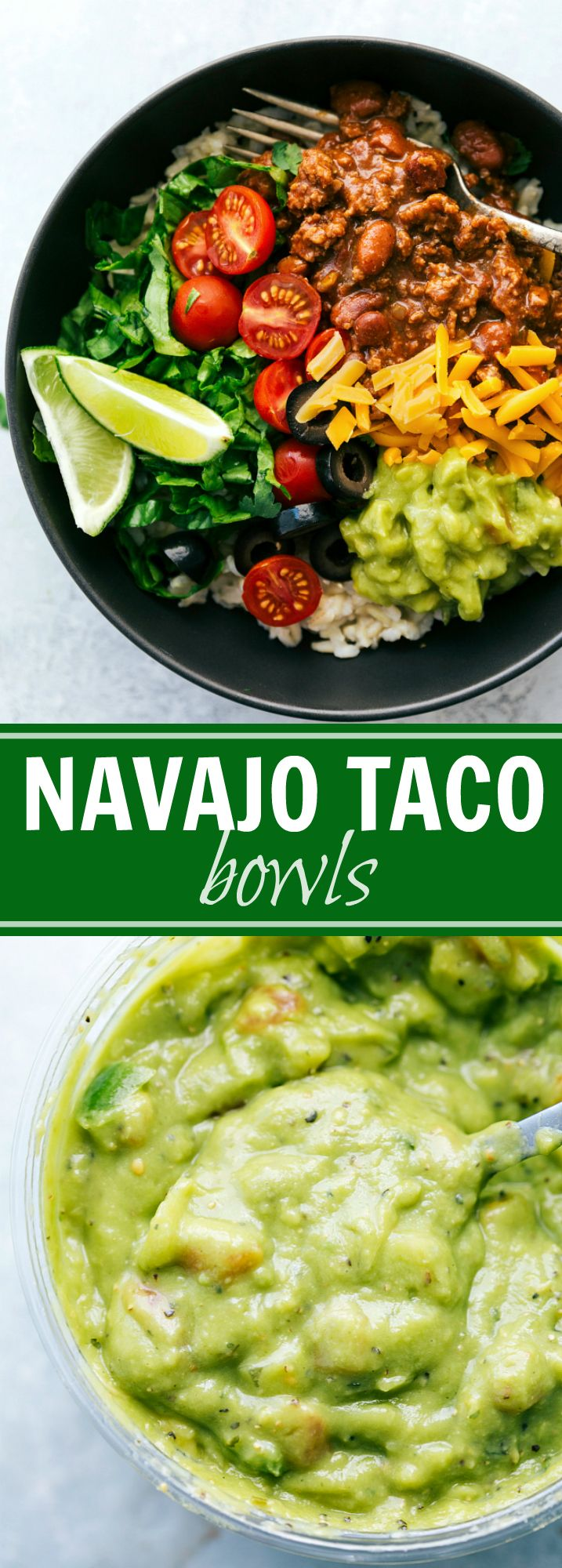 "Ditch the fry bread and serve these ""Navajo Tacos"" over rice! A healthier, 30-minute, simple dinner recipe. PLUS a recipe for a ""Navajo Taco Salad"""