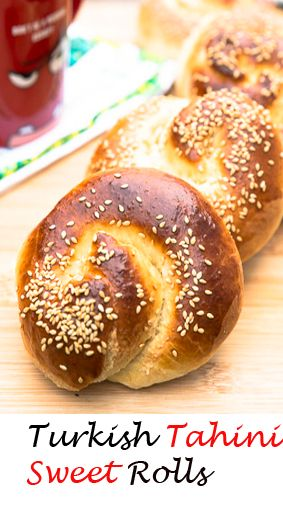 Yeast bread flavored and filled with tahini, made into swirls. Nothing like the aroma of freshly baked bread coming out of the oven, and the bonus here is the sweet tahini