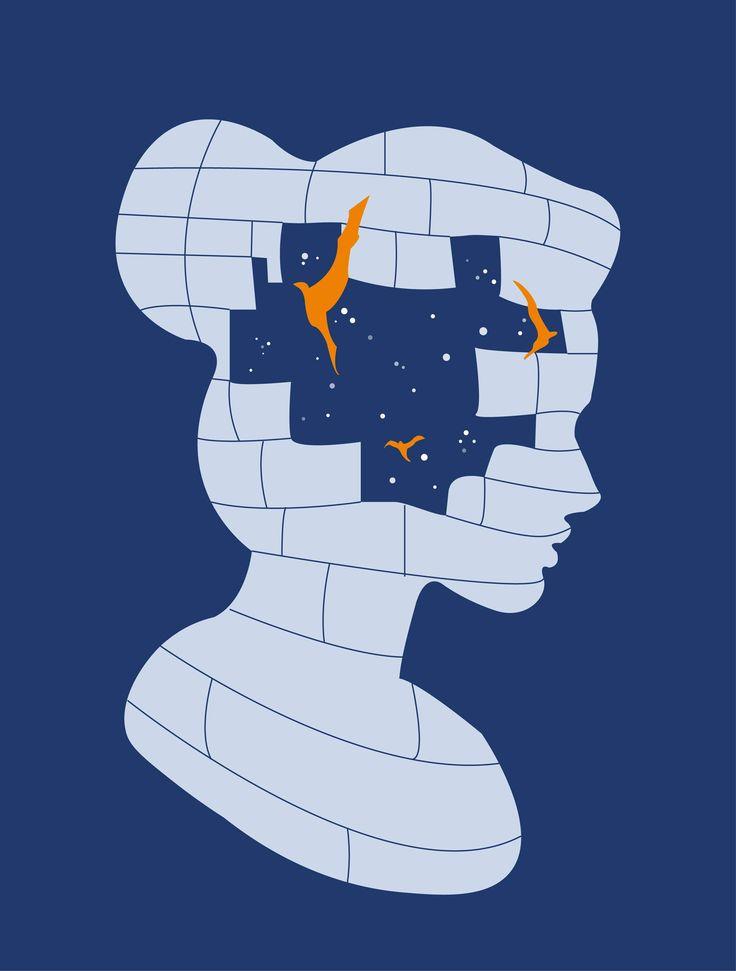 """Illustration sur le Rêve Lucide Inspiré du livre """"La première et dernière liberté """" de Krishnamurti"""
