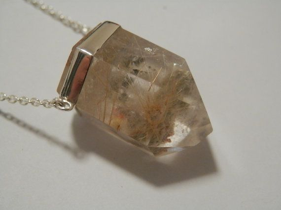 Rutilated Quartz Crystal Point Sterling Silver by ImmortalEarth