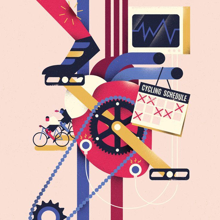 freelance illustrator dale edwin murray cycling plus magazine editorial illustration