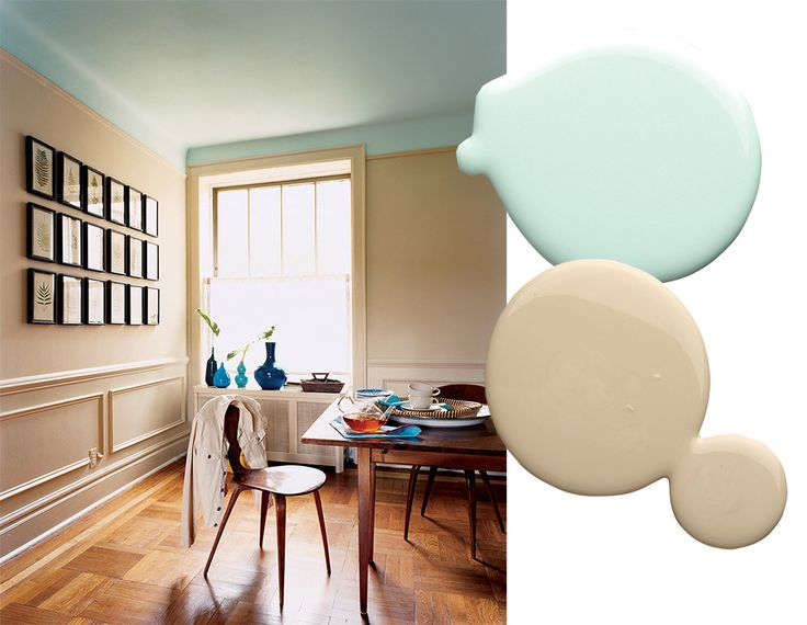 See more images from best paint color combinations on domino.com  I love the unexpected ceiling color.