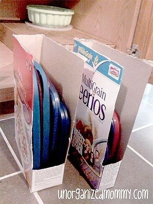 Frugal way to store your plastic lids! Another one of my biggest organizing pet peeves SOLVEDCHEAPLY!