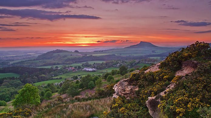 A fine view to Rosebery Topping