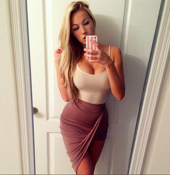 Hot girls wearing slutty dresses