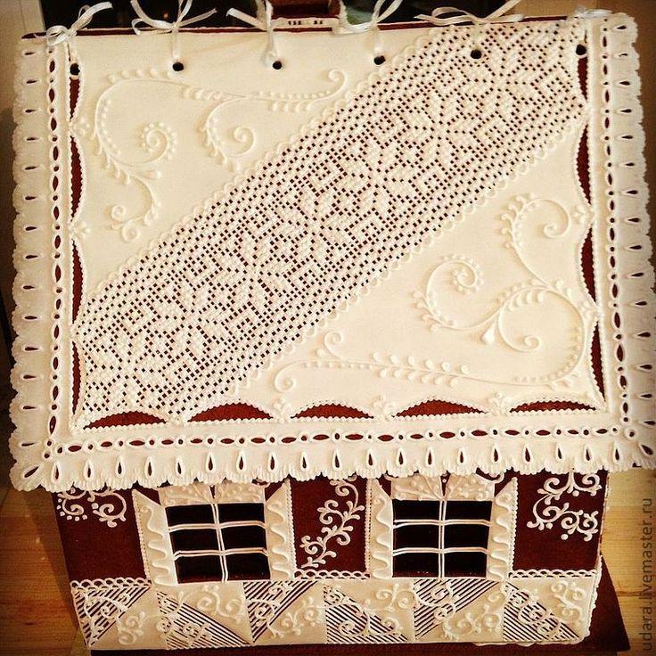 Купить Пряничный домик 40см - имбирное печенье, пряник, миндаль, вкусняшки, вкусный подарок