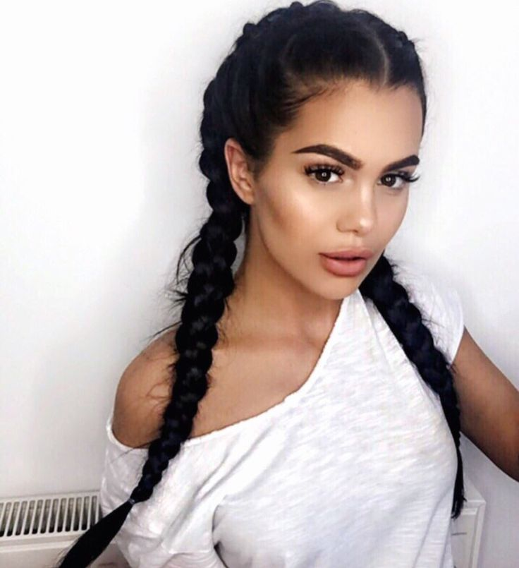 Cute braids for brunette hair
