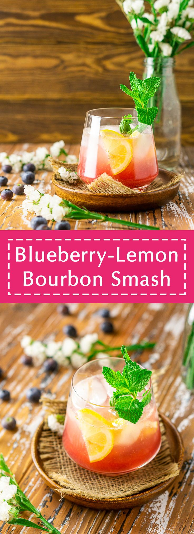 This blueberry bourbon smash is perfect if you're in the mood for some summer bourbon cocktails! Not only is this bluebe…
