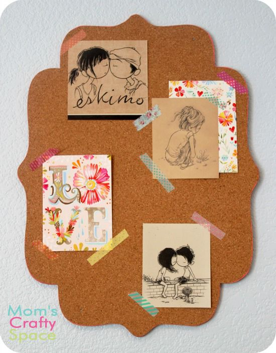 Colorful Decorative Edged Corkboard - Happiness is Homemade