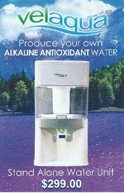 Velaqua's considered the best alkaline water machine 2014 because it naturally produces healthy alkaline antioxidant water with no electricity or chemicals.  It is affordable, portable and convenient.