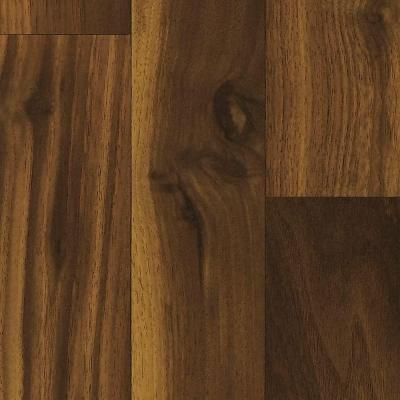 Shaw native collection northern walnut 8 mm thick x for Square laminate floor tiles