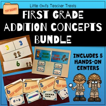 5 centers inspired by Go Math! Chapter 1: Addition Concepts for first grade. The centers cover early addition concepts. Check out the preview for a peek at each game, or click the links below to see previews for each individual game. Although these activities were specifically designed to support the Go Math! curriculum, they can be a useful addition to any math program!