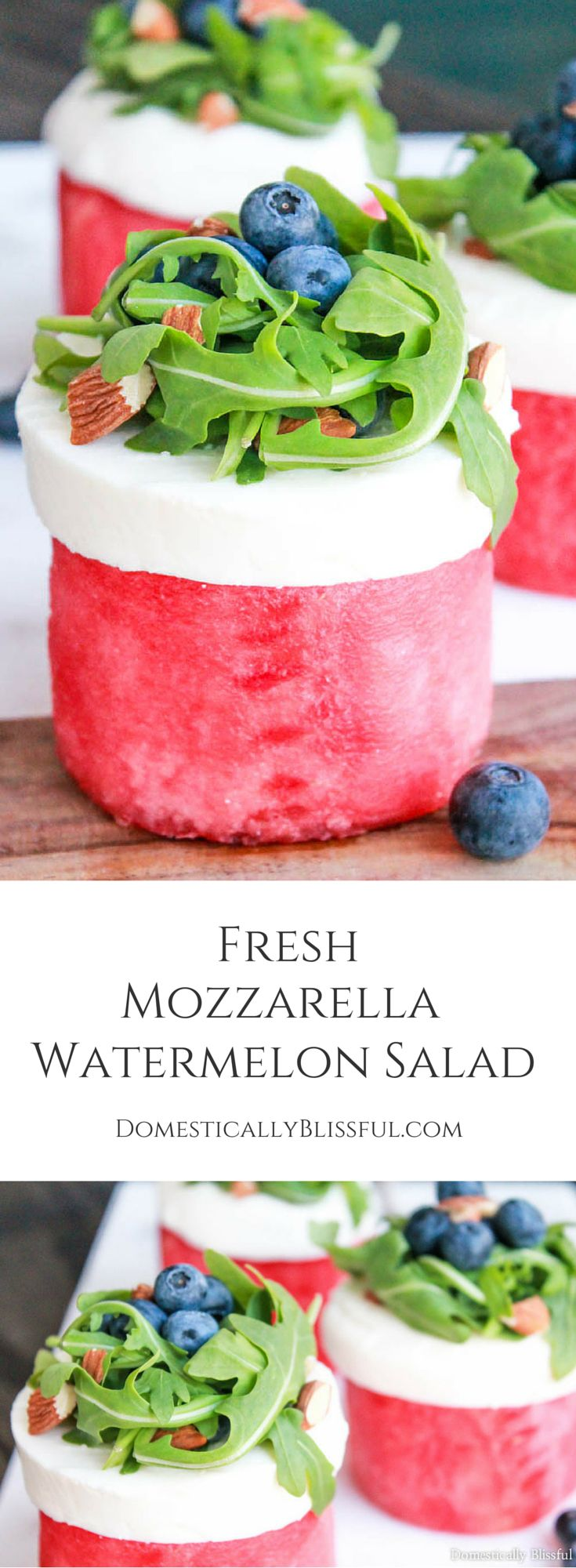 Fresh Mozzarella Watermelon Salad is a delicious way to enjoy a few of your favorite flavors of summer! #FreshisBest #StellaCheeses #QualitySince1923 #ad #sponsored @stellacheese