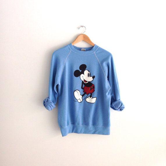 80s vintage Mickey Mouse Disney Sweatshirt by louiseandco on Etsy, $25.00