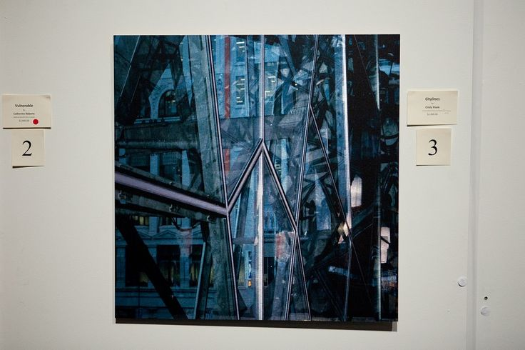 'Citylines', photograph printed on polish metal by Cindy Flook