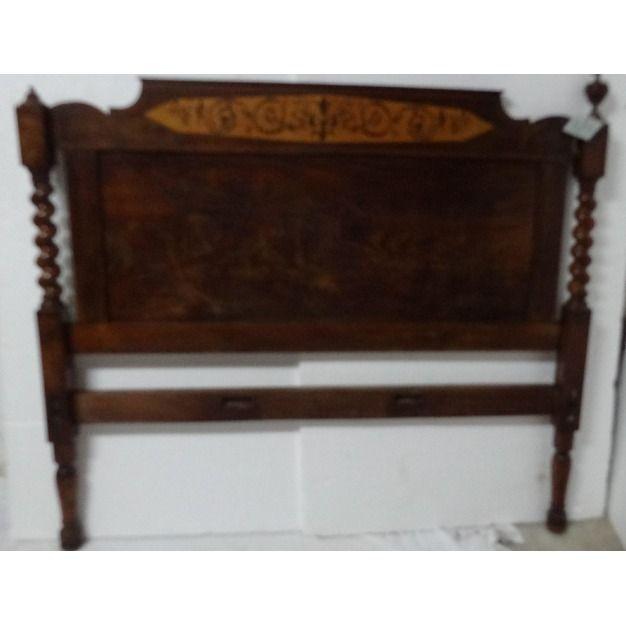 Antiguo cabecero y piecero caoba siglo xx 329 colecci n for Fotos de muebles antiguos restaurados