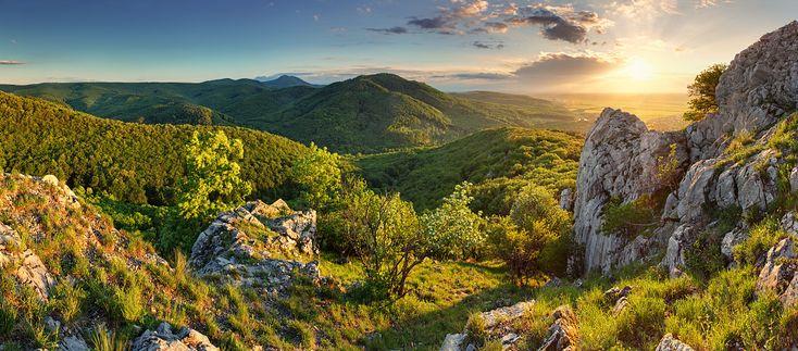 Little Carpathian mountains in Bratislava.