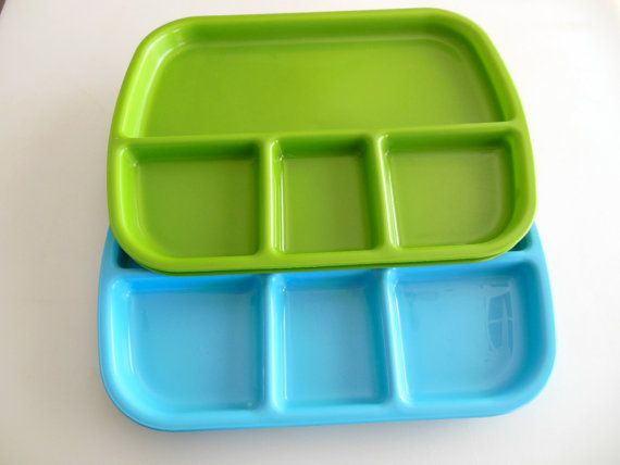 4 Kids Food Tray Divided Lunch Tray Set Of 4 Plastic