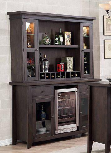 Lexington Bar Back Bar w/ Hutch Top | E.C.I. Furniture | Home Gallery Stores