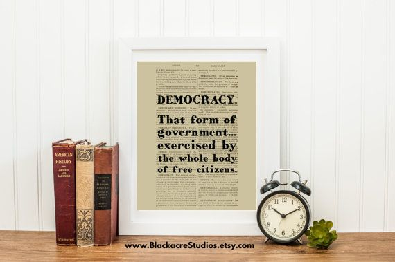 Democracy - Democracy Definition - 4th of July - Lawyer - Motivational Quotes - Fourth of July - Instant Download - Printable Wall Art