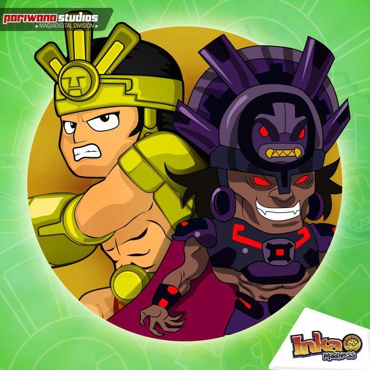 Una gran batalla: Atuq vs Phawak. #inkamadness #peru #games #ios #ipad #iPhone #wp #wp7 #videogames #apps