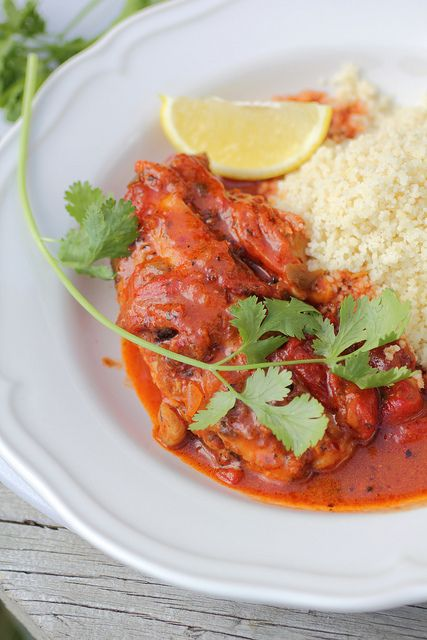 Very easy and quick, poach the Redfish in tomatoes and sofrito and serve with rice or couscous