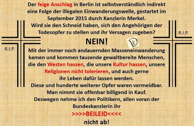 """Deutschland geht zu Grunde an der """"Humanität"""", impliziert durch die """"ewige Schuld"""" der Deutschen. Aber der Rest von Europa will nicht mit untergehen."""