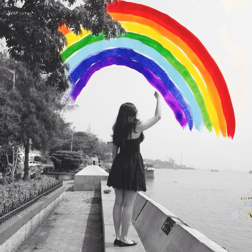 I paint rainbows in the sky. ☺  ☺
