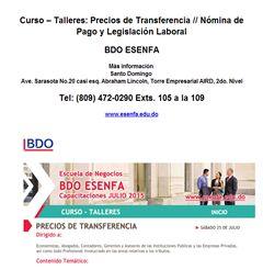 Curso – Talleres: Precios de Transferencia // Nómina de Pago y Legislación Laboral - Publicidad