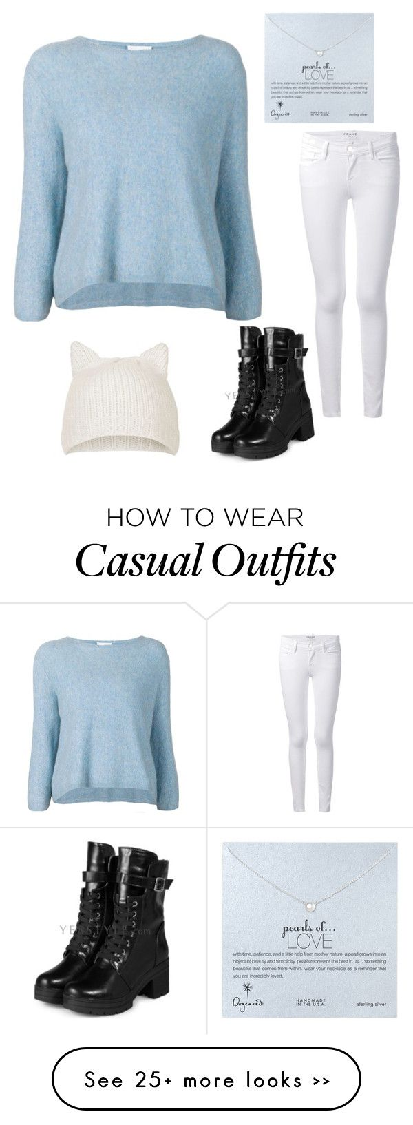 """""""casual"""" by kwkalyn on Polyvore featuring 3.1 Phillip Lim, Frame Denim, Topshop, Dogeared and yeswalker"""