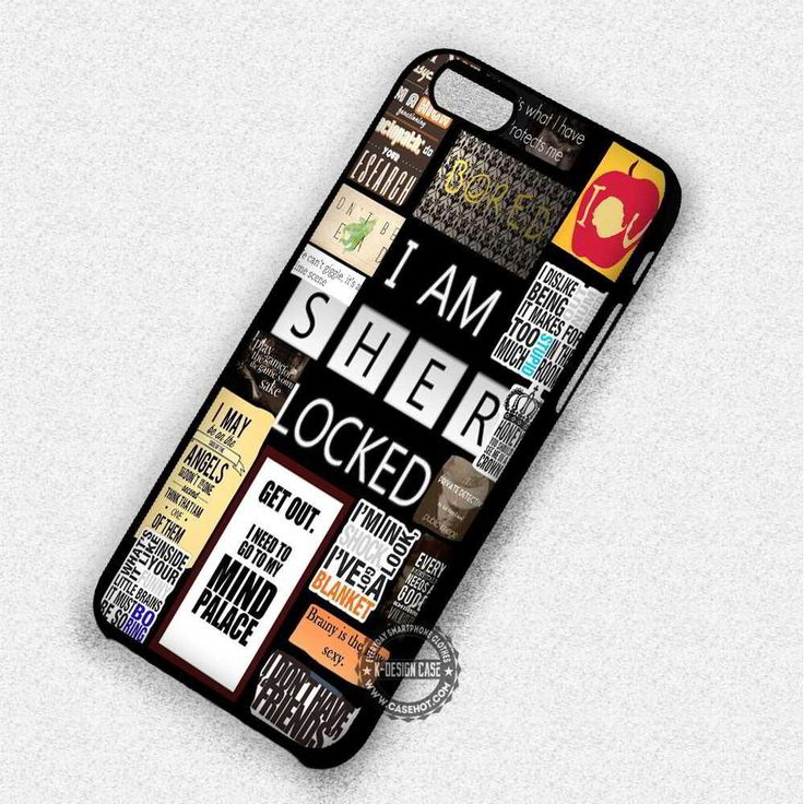 Sherlock Holmes Quote Collage - iPhone 7 6 Plus 5c 5s SE Cases & Covers