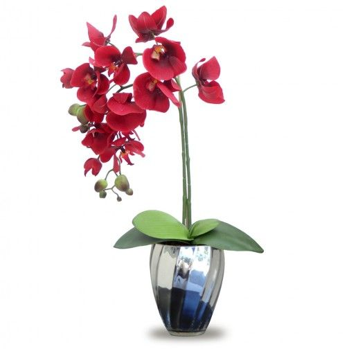 Arranjo Orquideas Vermelhas 45x15cm