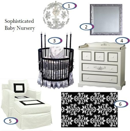 I'm defiantly having a love black and white Baby Room...