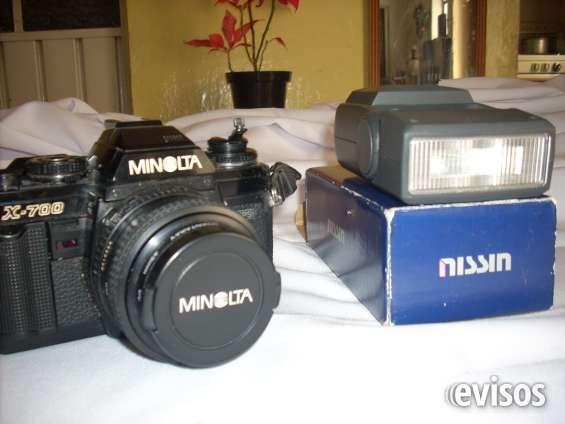 Cámara fotográfica y de video  Vendo cámara fotográfica marca Minolta X-700,con flash y lente de aumento. Además cámara de video ...  http://puebla-city.evisos.com.mx/camara-fotografica-y-de-video-id-602440