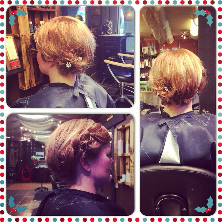 Party hair for and the seasons!  Knotted messy updo, loving it!!!