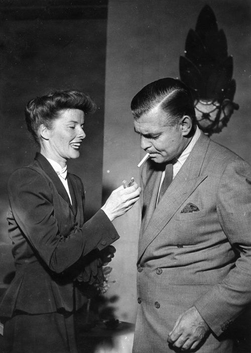 Clark Gable collectibles | Katharine Hepburn and Clark Gable