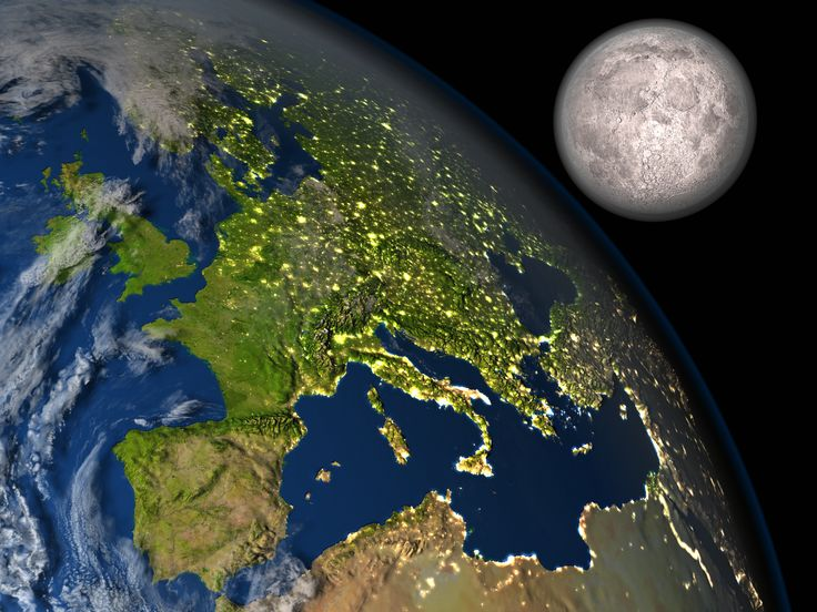 Celebrating supermoon... illustration from my studio InterstellarImages.