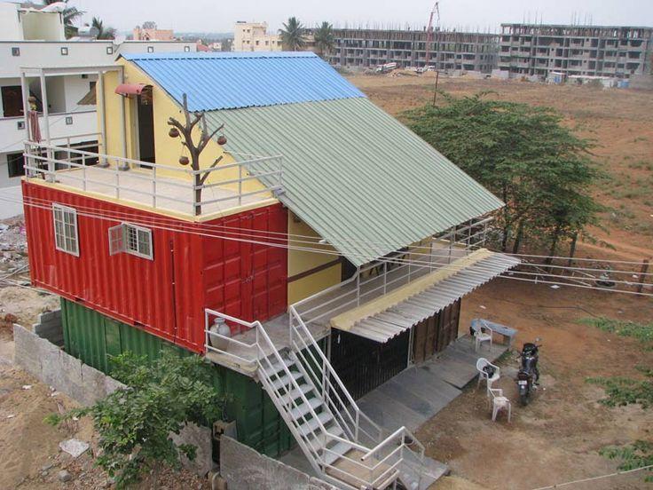дом из контейнеров в Индии