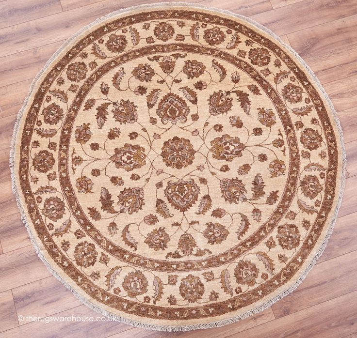 Ziegler Royal 813 Circle Rug 184cm 6ft A Luxury 100 Wool Hand Knotted Traditional Round In Shades Of Beige Brown Rust
