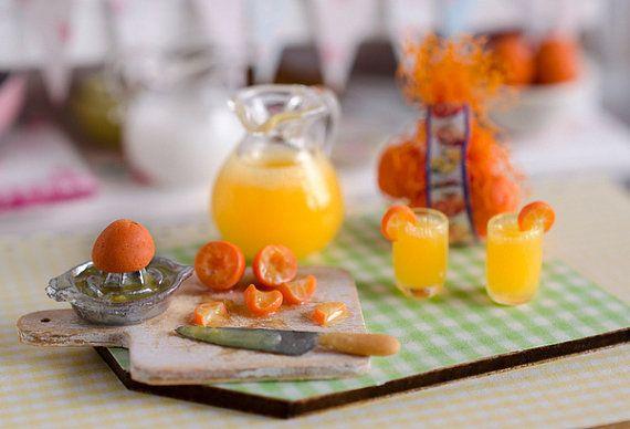 Miniature Making Orange Juice Set