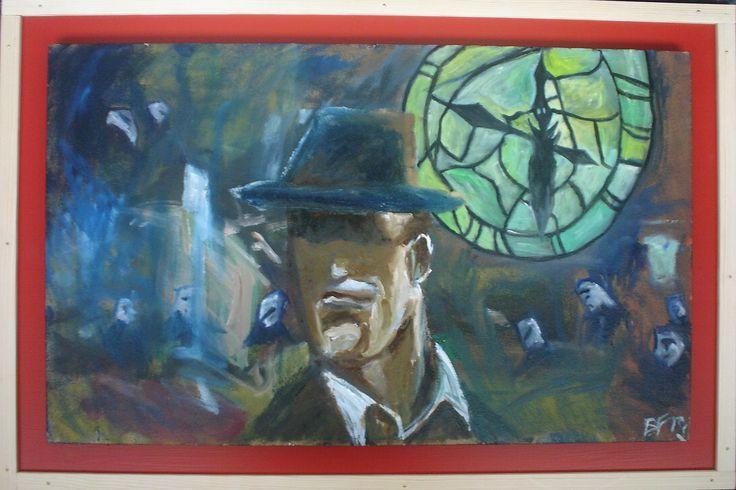 Meine eigene surrealistische Kunst: SIN CITY. Zur Zeit auf ebay.de im Angebot unter: http://www.ebay.de/itm/EYF-ART-Dark-City-Ol-MDF-Bild-Kunst-Surrealismus-Art-50-x-75-/131876727374?hash=item1eb4772a4e:g:vS4AAOSwRgJXhoZk