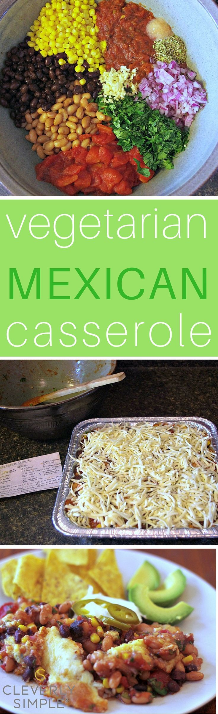 Best 25 vegetarian mexican food ideas on pinterest vegetarian easy vegetarian mexican casserole that is healthy for your whole family forumfinder Image collections