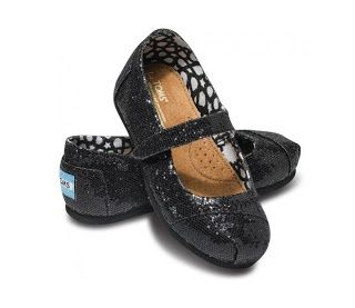 Sparkle TOMS for baby! Red and black.  These are actually cute..