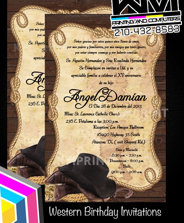 161 best images about Cowboy Wedding Invitations – Cowboy Party Invitation