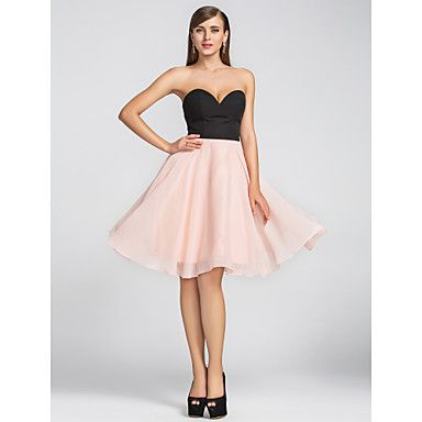 Homecoming/Cocktail Party/Wedding Party Dress A-line Sweetheart Knee-length Chiffon Dress – AUD $ 82.79
