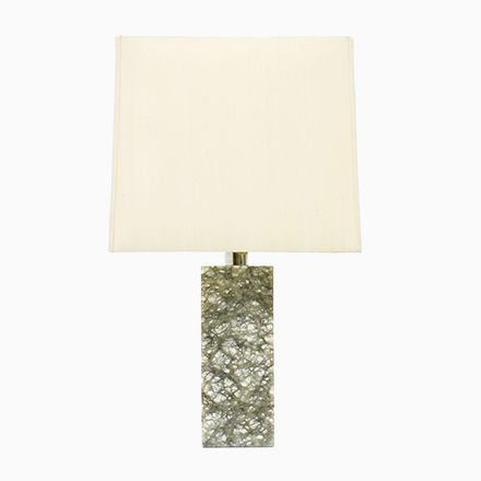 Visual comfort rl3965nb qp ellis bedside lamp in natural brass and quartz with percale shade