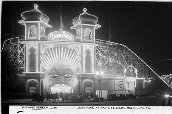 Luna Park at night, St. Kilda, Melbourne, Australia
